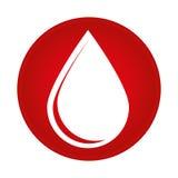 Ícone da doação da gota do sangue ilustração royalty free