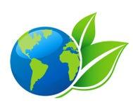Ícone da ecologia do mundo Imagem de Stock