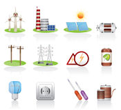 Ícone da eletricidade ilustração royalty free