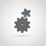 Ícone da engrenagem com duas engrenagens ilustração royalty free