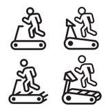 Ícone da escada rolante em quatro variações Ilustração do vetor Imagens de Stock Royalty Free