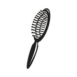 Ícone da escova de cabelo ilustração stock