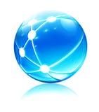 Ícone da esfera da rede Imagens de Stock Royalty Free