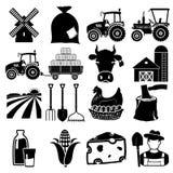 Ícone da exploração agrícola Fotos de Stock Royalty Free
