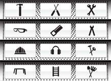 Ícone da ferragem ajustado: Série da tecla do Web ilustração stock