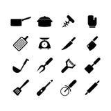 Ícone da ferramenta da cozinha ilustração do vetor