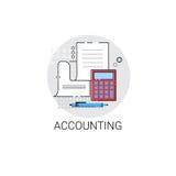 Ícone da finança da análise das estatísticas da contabilidade ilustração stock