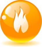 Ícone da flama. ilustração do vetor