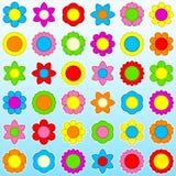 Ícone da flor ajustado - fundo ilustração stock