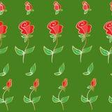 Ícone da flor Grupo de silhuetas cor-de-rosa decorativas Imagem de Stock Royalty Free