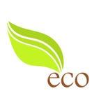 Ícone da folha de Eco Imagens de Stock Royalty Free