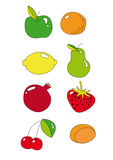 Ícone da fruta Fotos de Stock Royalty Free