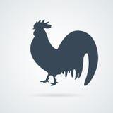 Ícone da galinha Ícone liso simples do galo silhueta da galinha ou do galo Imagem de Stock Royalty Free