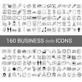 ícone da garatuja de 160 negócios para seu infographic Fotos de Stock