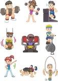 Ícone da ginástica dos desenhos animados Imagem de Stock Royalty Free