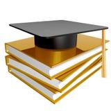 Ícone da graduação, da instrução e do conhecimento Foto de Stock Royalty Free