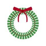Ícone da grinalda do feriado do Natal ilustração stock