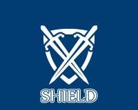 Ícone da guerra do protetor e logotipo do símbolo ilustração stock