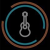 Ícone da guitarra - instrumento de música acústico ilustração do vetor