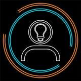 Ícone da ideia da inovação Inovação lisa da ilustração ilustração do vetor
