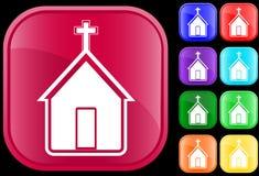 Ícone da igreja Fotos de Stock Royalty Free