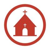 Ícone da igreja no fundo branco ilustração royalty free