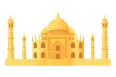 Ícone da ilustração do templo de Taj Mahal isloated Fotos de Stock Royalty Free