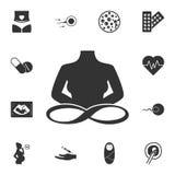 Ícone da infinidade Ilustração simples do elemento Projeto do símbolo da infinidade do grupo da coleção da gravidez Pode ser usad ilustração royalty free