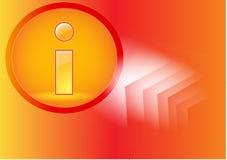 Ícone da informação fotos de stock