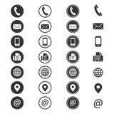 Ícone da informações de contato Imagens de Stock
