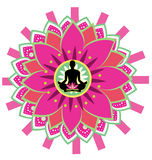 Ícone da ioga Imagens de Stock Royalty Free