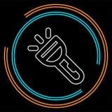 Ícone da lanterna elétrica do vetor - ícone do projetor do vetor ilustração royalty free