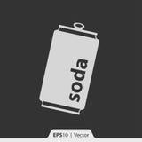 Ícone da lata de soda para a Web e o móbil Imagens de Stock