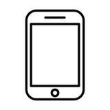Ícone da linha telefônica Símbolo linear do vetor Fotos de Stock