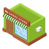 Ícone da loja de sapatas, estilo isométrico ilustração stock
