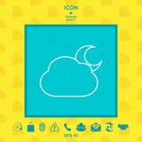 Ícone da lua da nuvem Fotografia de Stock Royalty Free