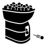 Ícone da máquina da bola de tênis, estilo preto simples ilustração royalty free