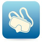 Ícone da máscara do mergulho isolado Fotos de Stock Royalty Free