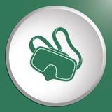 Ícone da máscara do mergulho isolado Imagem de Stock Royalty Free