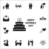 Ícone da mãe \ 'do bolo do dia de s Sira de mãe \ 'grupo universal dos ícones do dia de s para a Web e o móbil ilustração royalty free