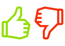 Ícone da mão Fotografia de Stock