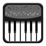 Ícone da música do piano ilustração stock