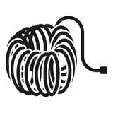 Ícone da mangueira de ar, estilo simples ilustração stock