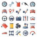 Ícone da manutenção do serviço do carro Imagens de Stock