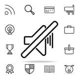 ícone da marca do fora-som grupo universal dos ícones da Web para a Web e o móbil ilustração royalty free