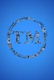 Ícone da marca registrada com peças de automóvel para o carro Imagens de Stock
