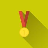 Ícone da medalha de ouro Imagens de Stock Royalty Free