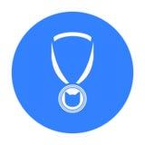Ícone da medalha do gato da ilustração do vetor para a Web e o móbil Fotos de Stock