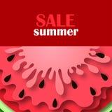 Ícone da melancia em um estilo liso Fotografia de Stock