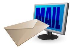 Ícone da mensagem com o indicador Fotos de Stock Royalty Free